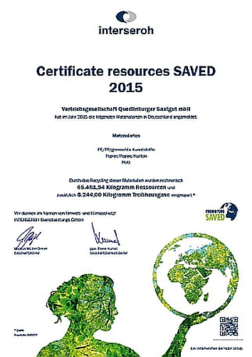 interseroh Certificate resources SAVED 2015